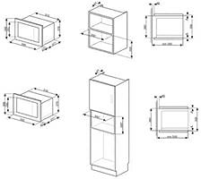 Microondas 26 lt, Display LCD, estética: 362.6: Amazon.es: Hogar