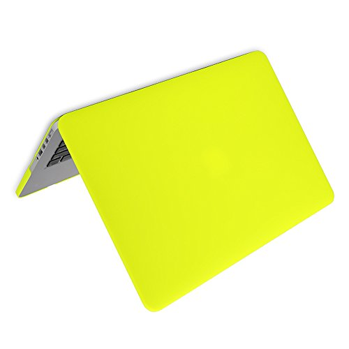Matte Rubberized Hard Case Cover for Macbook ProLaptop Shell- Air 13 inch Yellow by TOOGOO (Image #2)
