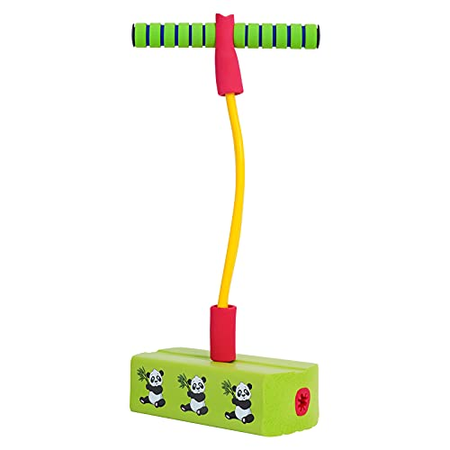 Fadeker Pogo Stick Toys for Ages 3+ Kids, Pogo Jumper Toys for Kids and Adults Outdoor and Indoor Sport, Safe Non-Slip Foam Material, Supports up to 250lbs, Controllable Funny Squeaks, Green