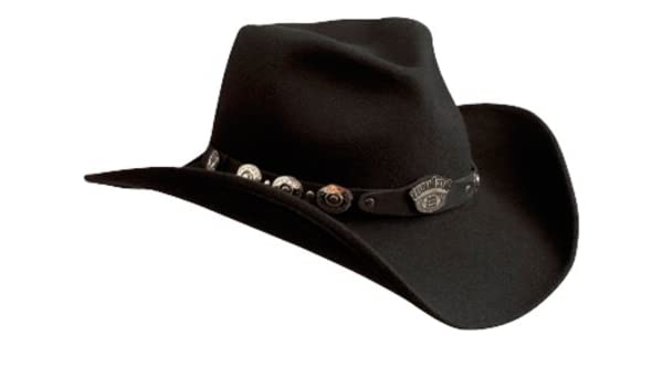 c3a9ab15cc3 Jack Daniel s Hats 100% Wool Satin Lined Western Cowboy Hat (Small)   Amazon.ca  Clothing   Accessories