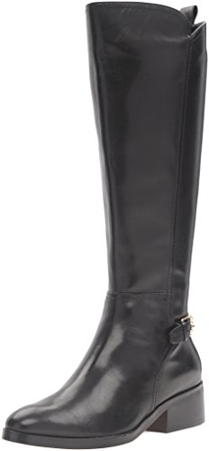 Cole Haan Women's Hayes Tall Riding Boot, Black Leather, 6 B US