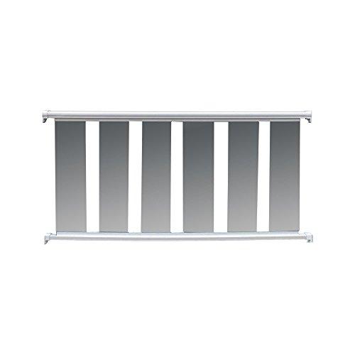Contractor Handrail Glass Handrail 6 ft x 36 - White (Aluminum Ez Handrail)