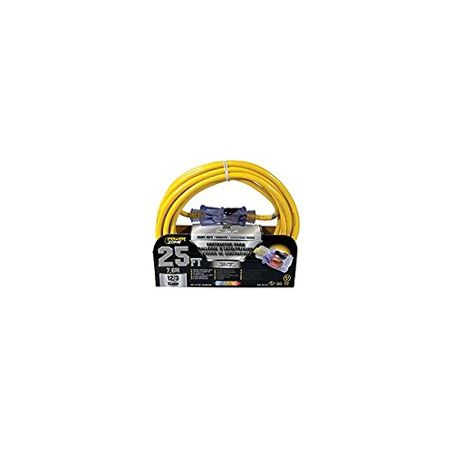 Cord Yel Ext 12/3 (Cord Ext 12/3 Sjtow X 25ft Yel)