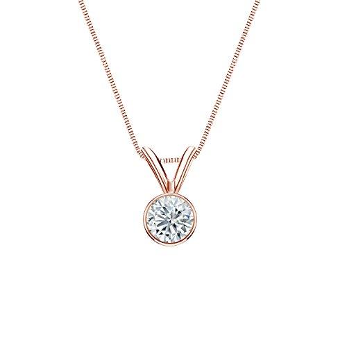 Set Round-Cut Diamond Solitaire Pendant (1/4 cttw, G-H, SI2-I1) ()