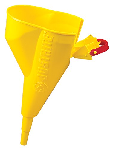 Justrite 11202Y Polyethylene Funnel For Use With The Type I Metal Safety Can. Easy-to-fill, Easy-to-pour, .5 x 11.25 inch (25 x 356mm) Size