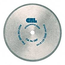 "CRL 5-3/8"" Plated Diamond Saw Blade Fine 220 Grit with 10 mm Arbor"