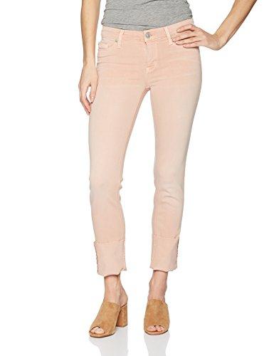 Cuff Skinny Jean (Hudson Jeans Women's Tally Deep Cuff Crop Skinny 5 Pocket Jean, Worn Rosewater, 29)