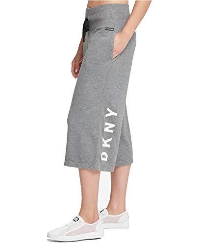 - DKNY Sport Womens Wide-Leg Logo Lounge Pants Gray XL