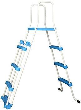 Well2wellness Escalerilla para Piscina Pool Escalera de Seguridad - 3-stufig con Plataforma 175/122 cm (024291): Amazon.es: Jardín