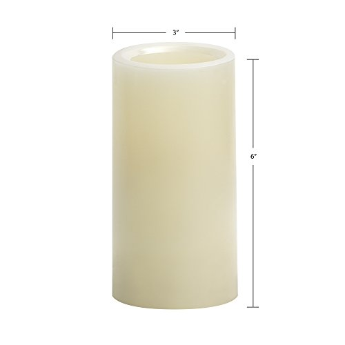 Candle Impressions by Sterno Home 6-Inch Smooth Flameless Candle with Vanilla Fragrance, Cream