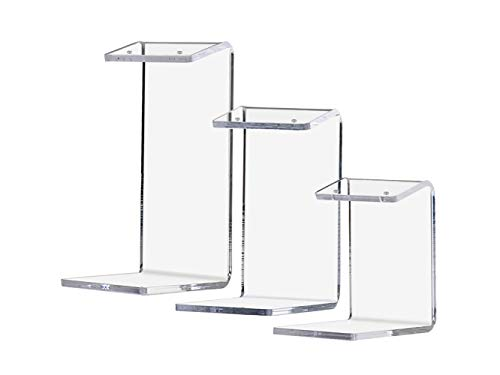 Marketing Holders Jewelry Holder Display Stand Earring Display Stands Single Pair (18 Pack Includes 6 Large, 6 Medium, 6 Small), Clear Arcylic