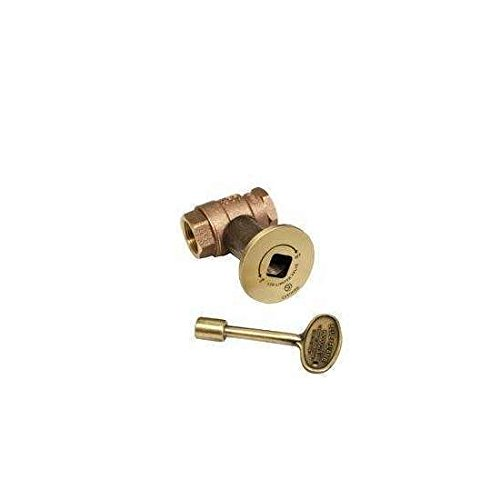 Hearth Products Controls HPC 3/4-Inch Straight Gas Fire Pit Shut Off Valve Kit (MSAB-HC), Antique Brass Flange and Key