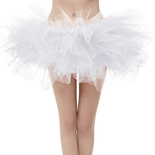 Topdress Layered Tulle Tutu Skirts White Regular Sizing -