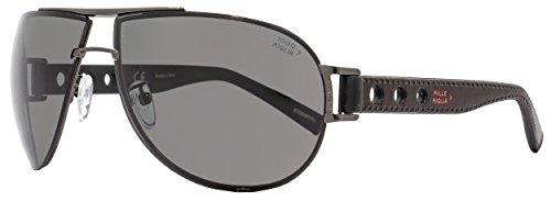 Mille Miglia by Chopard Wrap Sunglasses SMMB32 K10P Satin Bakelite Polarized - Chopard Miglia Sunglasses Mille