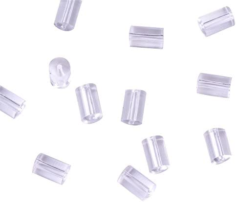 TOAOB 500pcs Clear Rubber Earring Safety Backs Stopper 3x3mm for Earrings Making