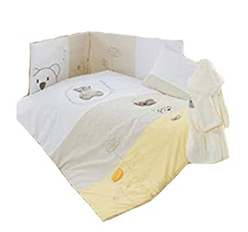 Lancashire Textiles Nursery Baby Bed Bedding Collection - 100% Cotton Quilted 4.5 Tog Duvet - Little Bear