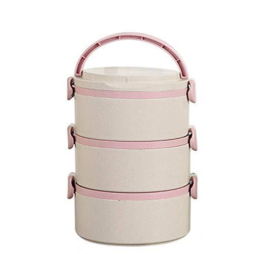 MAI&BAO Multicapa Lunch Box Se Puede Calentar en el microondas Recipiente para Comida Lunch Box Alimentos Caliente Depósito...