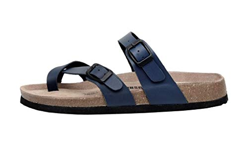 CUSHIONAIRE Women's Luna Cork Footbed Sandal with +Comfort