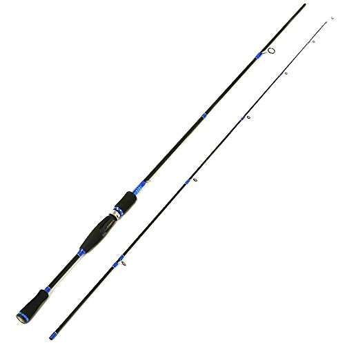 Entsport 2-Piece Spinning Rod Graphite Portable Spinning Fishing Rod Inshore Spinning Pole Freshwater Spin Rod (8-20-Pound Test) (7' Medium ()