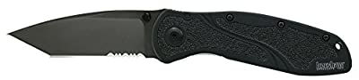 Kershaw Tanto Serrated Blur Knife with SpeedSafe