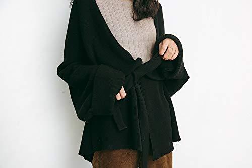 Donna Lungo Militare Uniforme Black E È Maglione Cappotto Verde Da Sciolto Codice Kndsf 6xzAEnXz