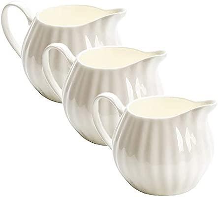 Jarra de cerámica para leche de 3 piezas de 10 onzas, jarra ...