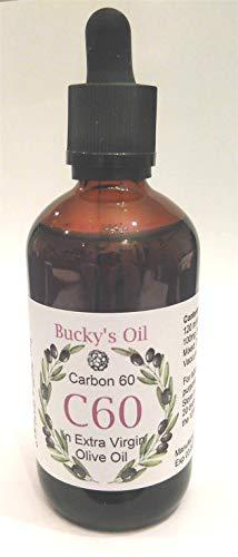 C60 Olive Oil - 120ml Bottle - 100mg Carbon 60: 99.9% in 120ml Extra Virgin Olive Oil, Lipofullerene