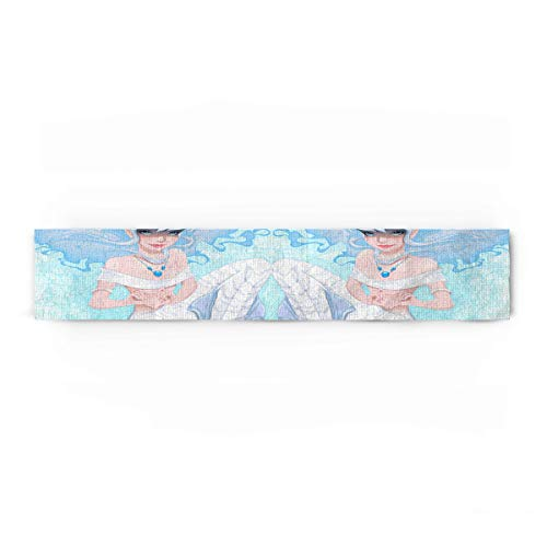 Beauty Decor Polyester Fabric Mermaid Natural Rectangle Lace Table Runners Dreamlike Fantasy Mermaid in Ocean 13x90inch