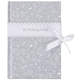 Silver Butterfly Wedding Planner Notebook