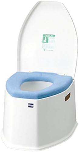 [スポンサー プロダクト]ポータブルトイレ SP ホワイト(防臭消耗品・O型便座カバー付) KPT-SP-01HT