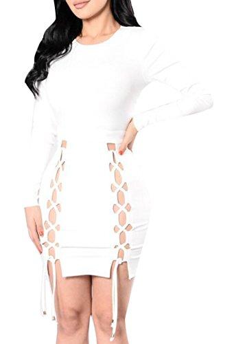 Acquaa Women's Sexy Long-sleeved Bodycon Party Nightclub Dress