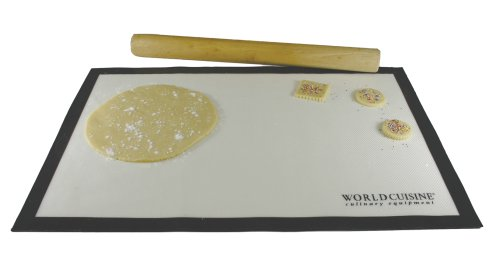 (World Cuisine Nonstick 25.37-by-17-1/2-Inch Pastry Mat)