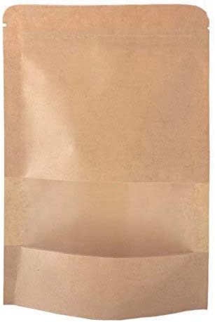 Amazon.com: SumDirect - 50 bolsas de papel kraft con cierre ...