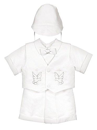 iGirlDress Baby Toddler Boys Christening Short Sleeve Set, White, X-Small / - Set Christening