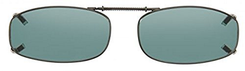Cocoons Polarized Clip-on Rectangle 4 L4118G Rectangular Sunglasses, Gunmetal, 46 - Clip Sunglasses Cocoon On