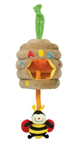 Melissa & Doug Ks Kids Musical Pull Beehive - Crinkling, Soft-to-Touch Crib Toy