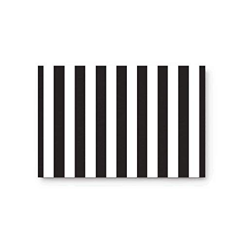 Black And White Stripes Fabric Door Mat Rug Indoor/Outdoor/Front Door/Shower Bathroom Doormat, Non-slip Doormats, 18-Inch by 30-Inch