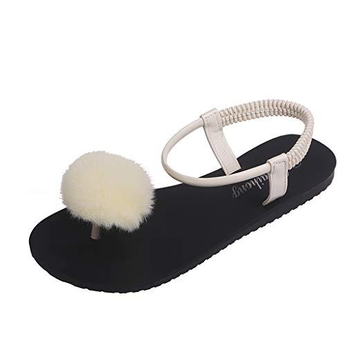 Ladies Herringbone Wave Bohemian National Wind Flat Sandals Wild Toe Seaside Beach Shoes Beige (Sandals Womens Bongo)