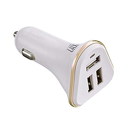 Amazon.com: LAX Gadgets - Cargador de coche (3 puertos USB ...