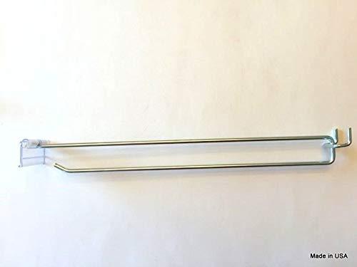 GOOD CHOICE (50 PACK) 11'' MEGA Flip Scan Metal Peg Hooks w/Label Holder 3/16''-1/4'' Pegboard