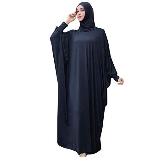 HYIRI Jumpsuit Wide Leg Pants Romper Women's Summer Ramadan Muslim Loose Jumpsuit Navy