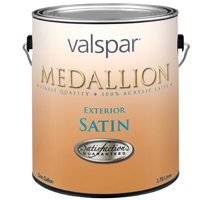 (Medallion 100% Acrylic Exterior Latex Satin House and Trim Paint (Pack of 4))