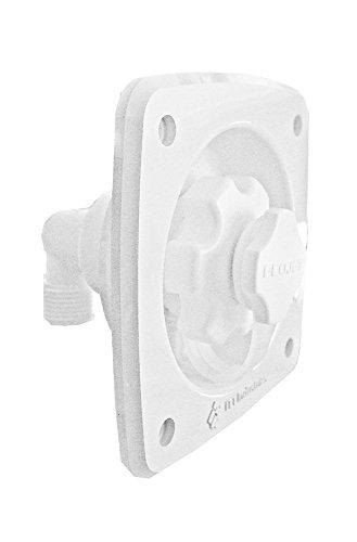 Jabsco Flush Mount Water Pressure Regulator 45psi - White