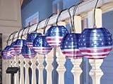 Porpora%AE LED Solar Chinese String Light Lantern Catalog (Porpora%AE 10 Pc American Flag LED Solar Chinese String Light Lanterns)