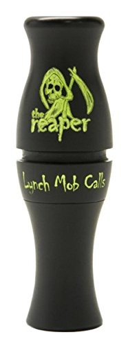 Canada Honker Goose Call - LYNCH MOB CALLS The Reaper Precision CNC Turned Acrylic Canada Goose Call, Stealth Black, Size 4.25