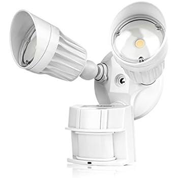 Hyperikon LED Security Light, 20W (100W Equivalent) Outdoor Motion Sensor Light, 1800lm, 5000K (Crystal White Glow), Waterproof IP65 & UL, 40° Beam Angle, CRI 80+, Adjustable Head, 120v