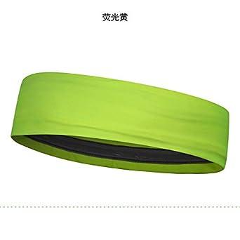 Jaune fluorescent Taille unique Turban absorbant la transpiration dune protection anti-transpirante Turban absorbant la sueur du sport Bandeau d/équitation Marathon