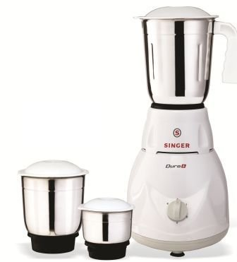 Buy Singer Duro Plus Watt Mixer Grinder With Jars White - Singer kitchen equipment