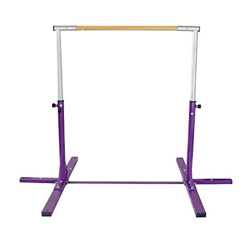 Bestmart INC Adjustable Height Kip Bar for Gymnastics(Purple) by Bestmart INC (Image #1)