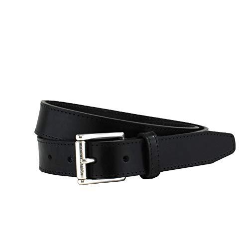 - Men's Italian Leather Formal Belt, Etched Roller Buckle, 3cm strap, British Belt Co. Ellison